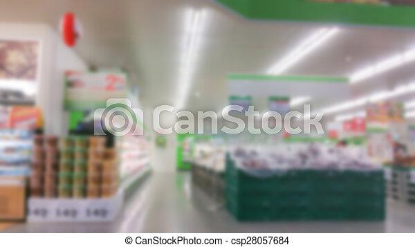 Abstract blur supermarket - csp28057684