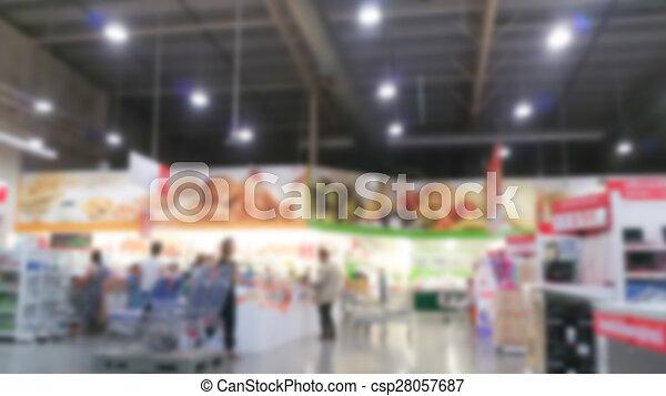Abstract blur supermarket - csp28057687