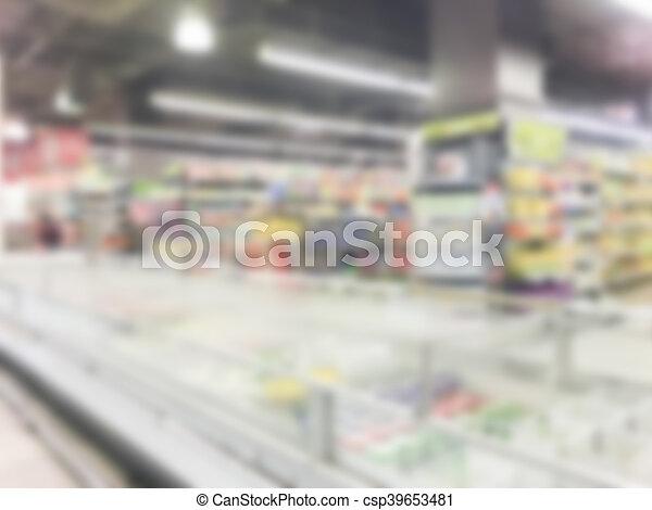 Abstract blur supermarket - csp39653481