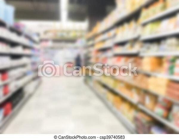 Abstract blur supermarket - csp39740583