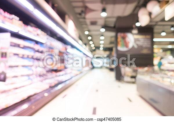 Abstract blur supermarket - csp47405085