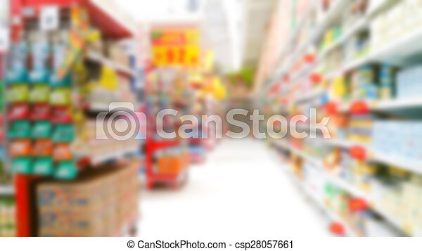 Abstract blur supermarket - csp28057661