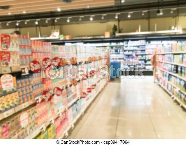 Abstract blur supermarket - csp39417064