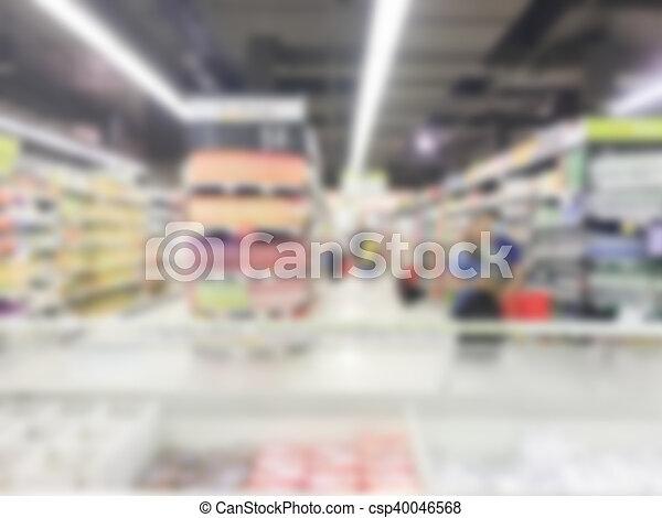Abstract blur supermarket - csp40046568