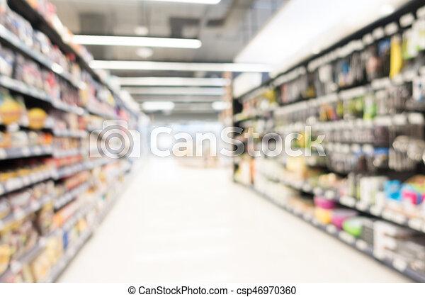Abstract blur supermarket - csp46970360