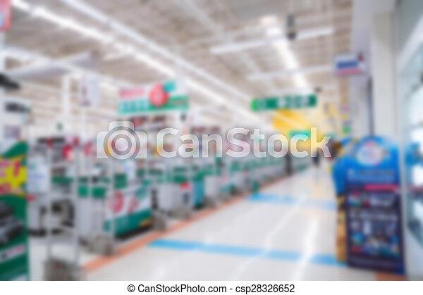 Abstract blur supermarket - csp28326652