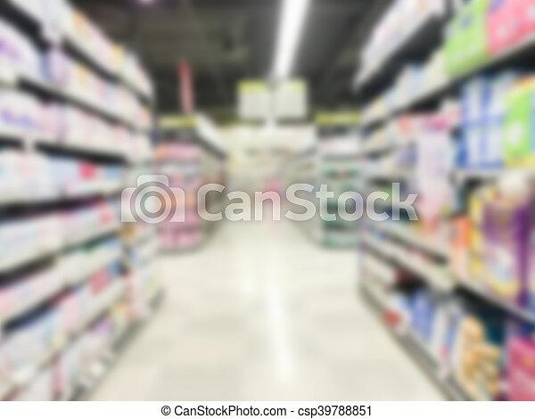 Abstract blur supermarket - csp39788851
