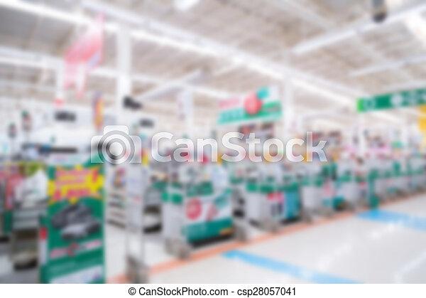 Abstract blur supermarket - csp28057041