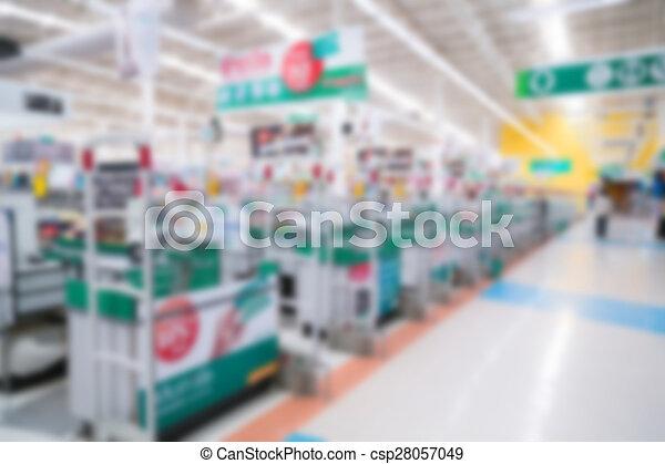 Abstract blur supermarket - csp28057049