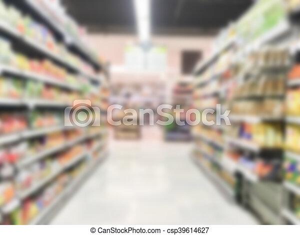 Abstract blur supermarket - csp39614627