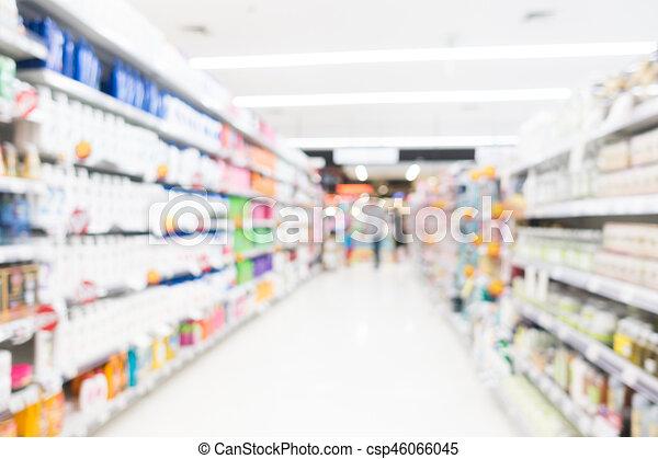 Abstract blur supermarket - csp46066045