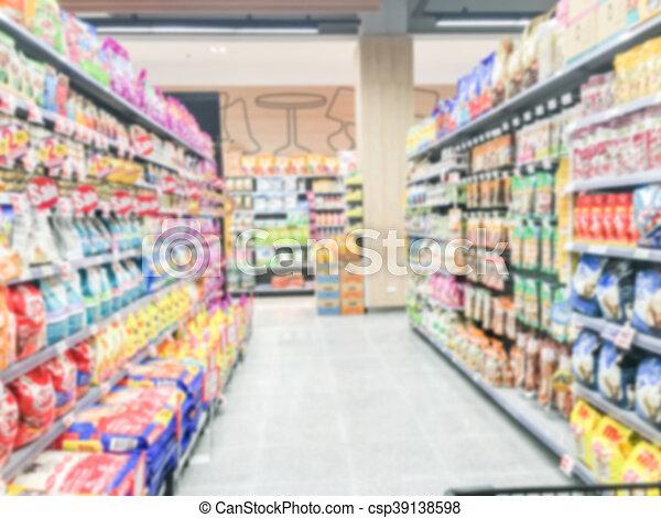 Abstract blur supermarket - csp39138598