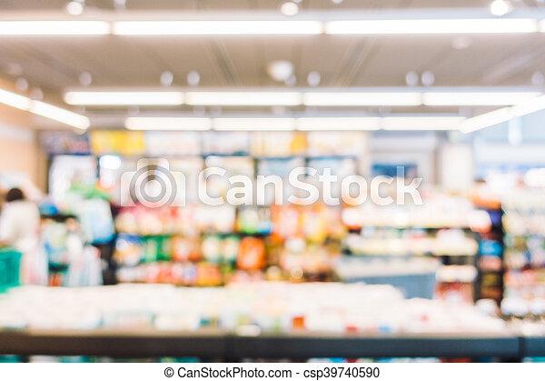 Abstract blur supermarket - csp39740590