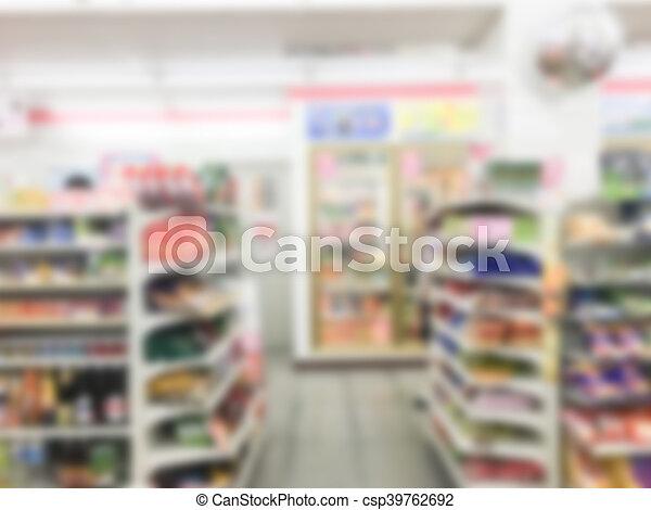 Abstract blur supermarket - csp39762692