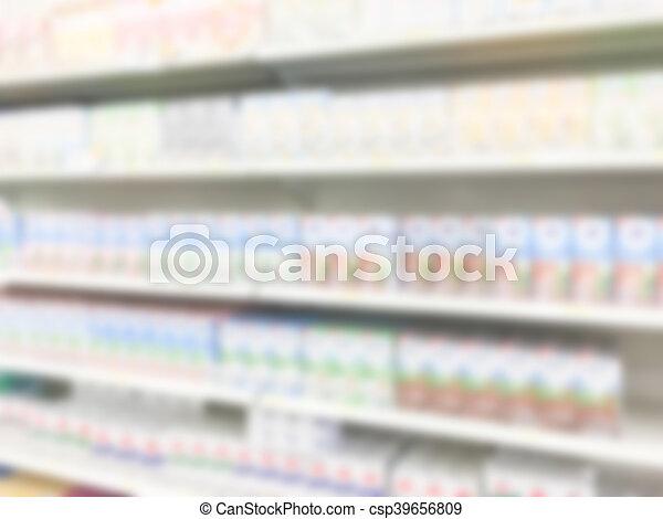 Abstract blur supermarket - csp39656809