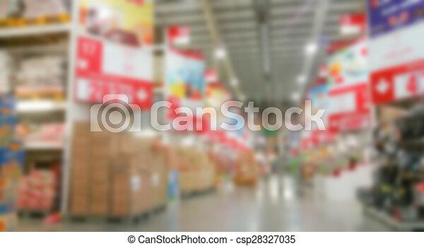 Abstract blur supermarket - csp28327035