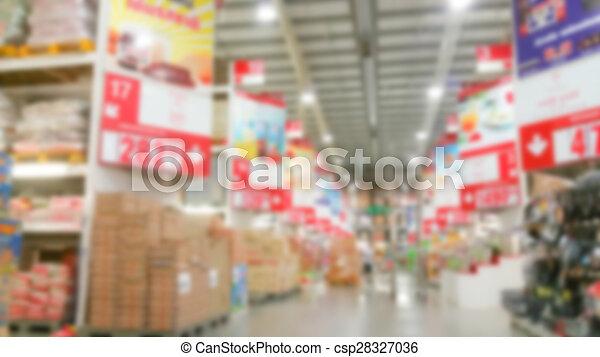 Abstract blur supermarket - csp28327036