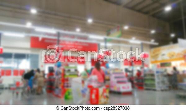 Abstract blur supermarket - csp28327038