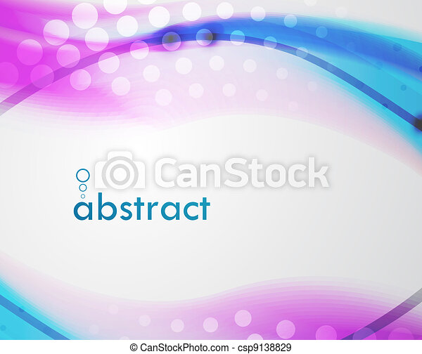 Abstract blur wave vector background - csp9138829