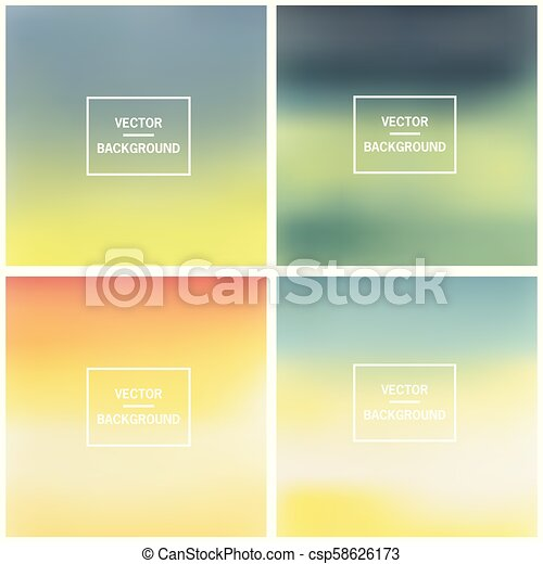 Abstract blurred backgrounds - csp58626173