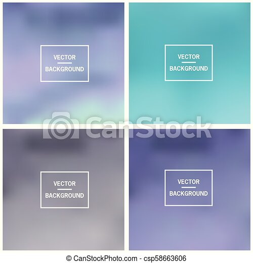 Abstract blurred backgrounds - csp58663606
