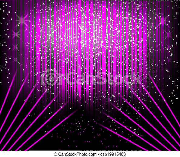 Abstract blurred glowing background with sparks. - csp19915488