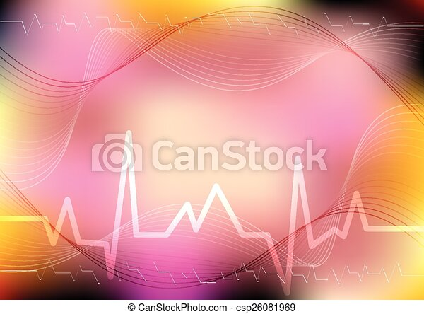 Abstract blurred medical background. World Health day - csp26081969