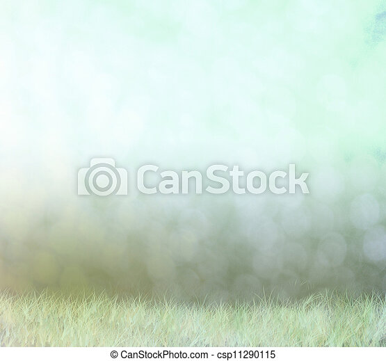 Abstract bokeh background, fog on field - csp11290115