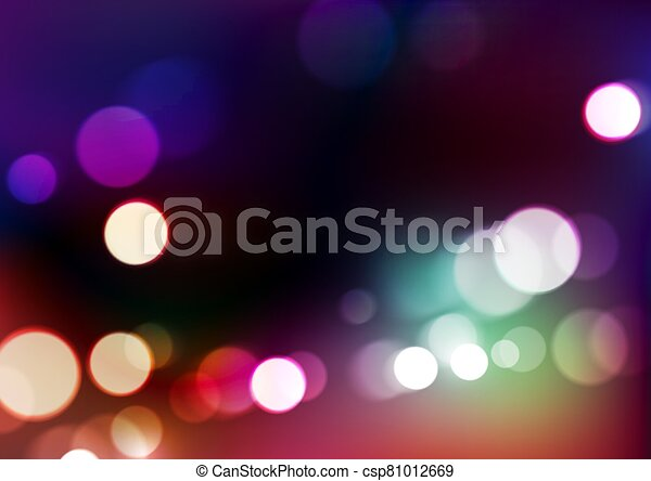 Abstract bokeh lights background - csp81012669