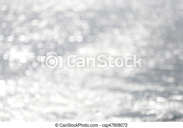 Abstract bokeh of sea in the morning. - csp47808072