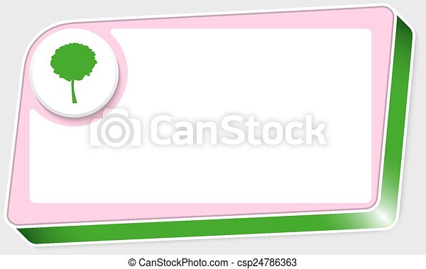 abstract box for text and tree symbol - csp24786363