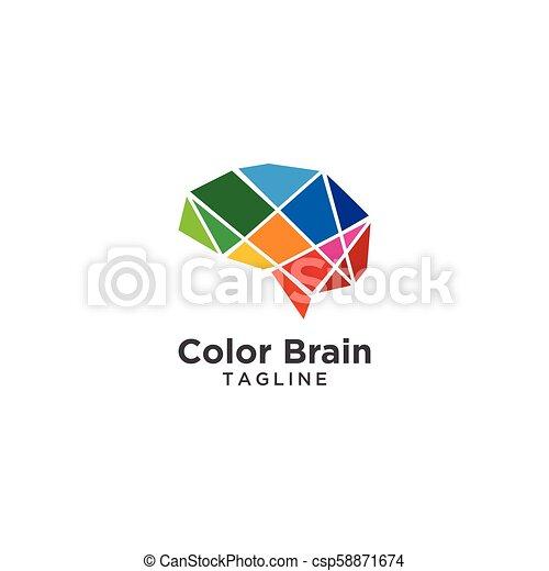 Abstract brain logo template - csp58871674