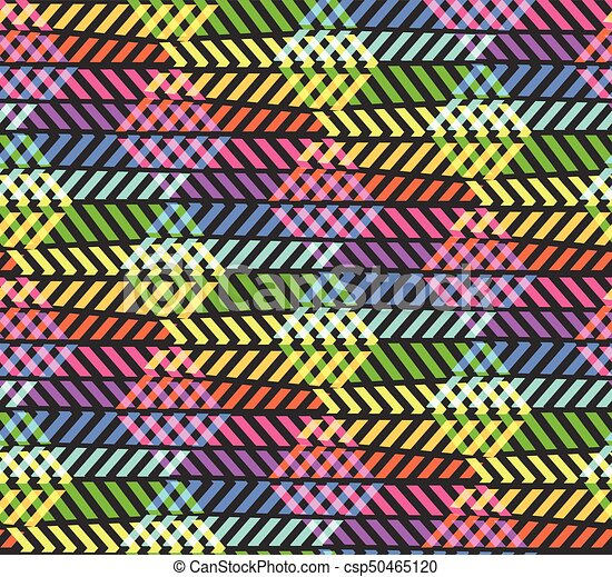 Abstract Break Zigzag Rainbow Pattern With Rhombus