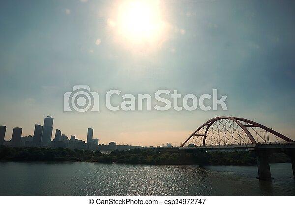 abstract bridge at Han River - csp34972747