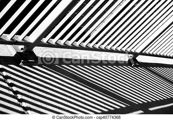 Abstract bridge railing - csp40774368