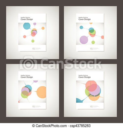 Abstract Bright Simple Technology Brochure Template Vector - Technology brochure template