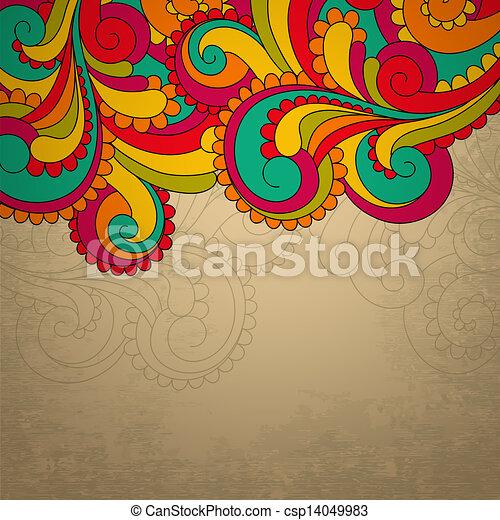 Abstract bright vector frame - csp14049983