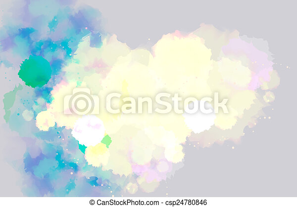 Abstract bright watercolor background. - csp24780846