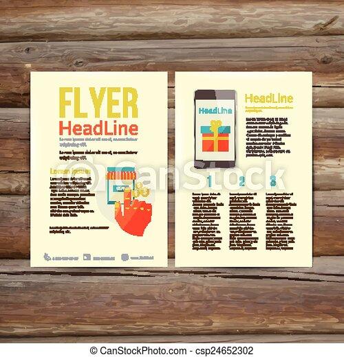 abstract brochure flyer design online payment abstract brochure