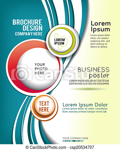 Abstract Brochure or flyer - csp20534707