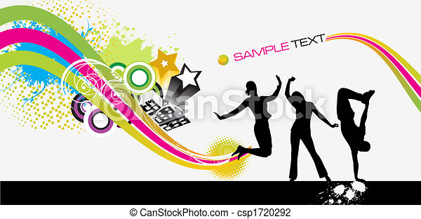abstract brochure - white background - csp1720292