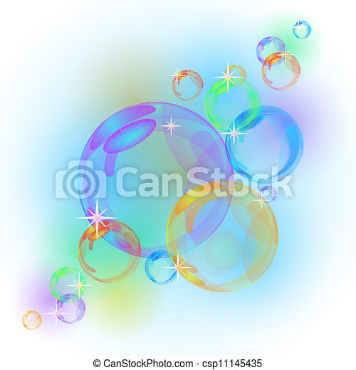 Abstract bubble vector background - csp11145435