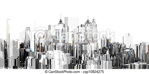 Abstract building - csp10824275