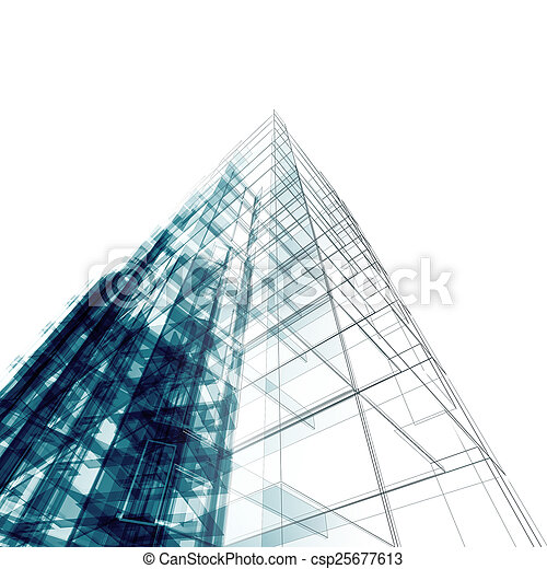 Abstract building - csp25677613