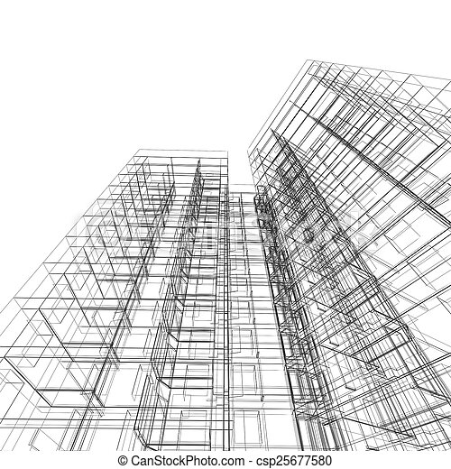 Abstract building - csp25677580