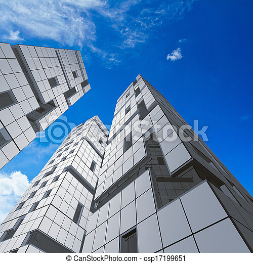 Abstract building - csp17199651
