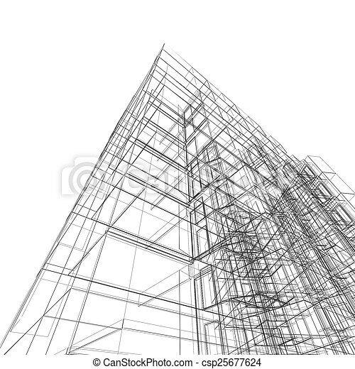 Abstract building - csp25677624