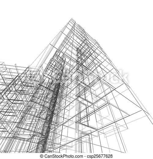 Abstract building - csp25677628