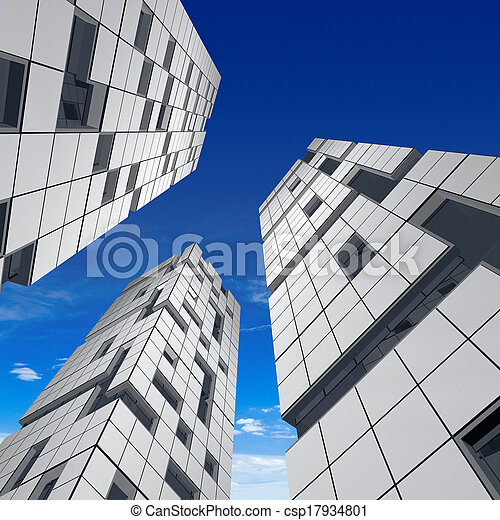 Abstract building - csp17934801
