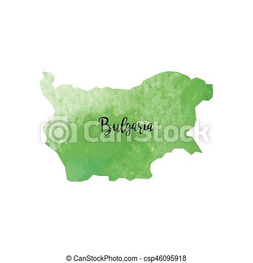 Abstract Bulgaria map - csp46095918